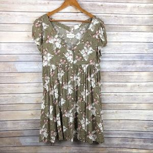 Denim & Supply RL Floral Babydoll Swing Dress Sz M